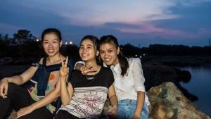 Ha, Hoa, and Hoan at Stone Lake