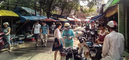 Walking around the streets of Vietnam National University