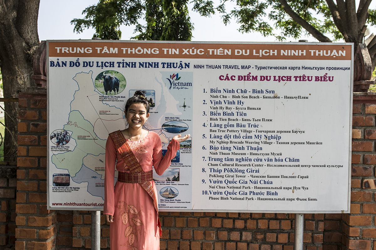 Phan Rang, Ninh Thuan area, and a map of the surrounding attractions to visit.