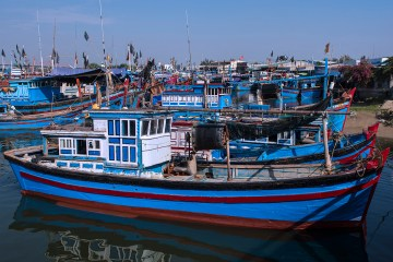 Fishing boats in Phan Rang Bay marina