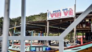 Floating restaurant on Vinh Hy Bay.