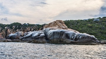 The beautiful limestone rocks at Vinh Hy Bay