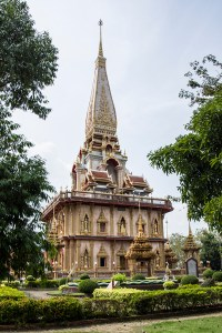 Wat Chalong is the largest temple complex on the island.