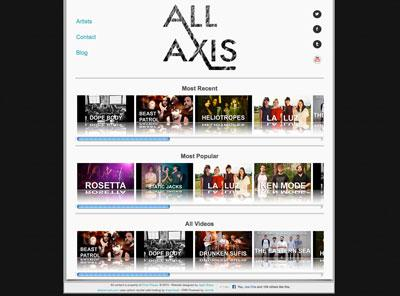 allaxismusic.com – web design by Jayel Draco