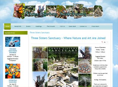 threesisterssanctuary.com – website design by Jayel Draco