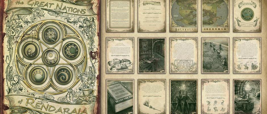 Oneshi Press - Children of Gaia: Great Nations of Rendaraia- Sample Banner