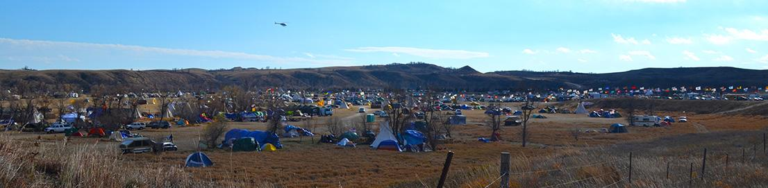 Oceti Sakowin camp at Cannon Ball North Dakota during the Standing Rock #NoDAPL protests