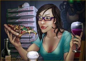 Blog Selfie - Wine & Pizza