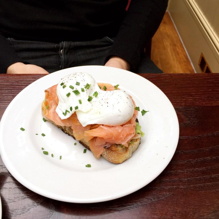 Cafe Rouge Salmon Avocado Toast