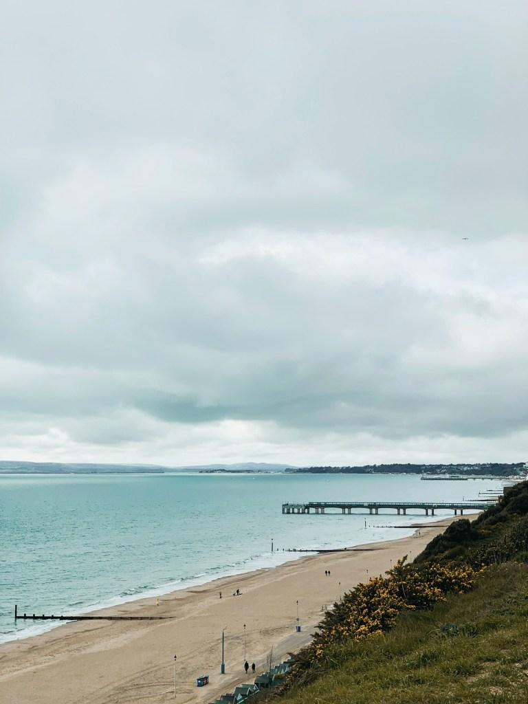 Jaye Rockett Bournemouth beach winter