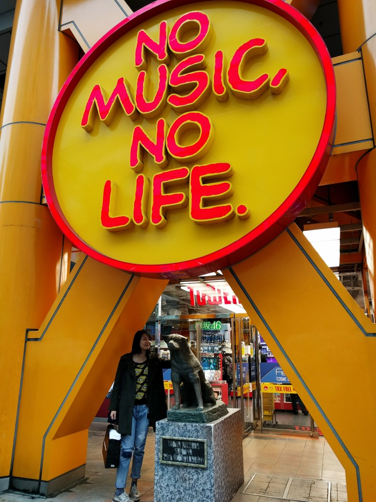 Said hi to Tower Records Hachiko instead. Shibuya, Japan.