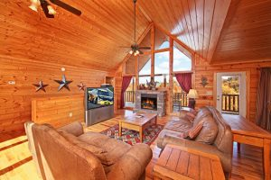 A Peaceful Easy Feeling is a four bedroom cabin in Pigeon Forge. It offers an incredible location minutes from Dollywood, a mountain view, and community pool