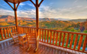 Cades Cove Vista Lodge is a luxury cabin that offers quite likely the best view in all of the Smoky Mountains.