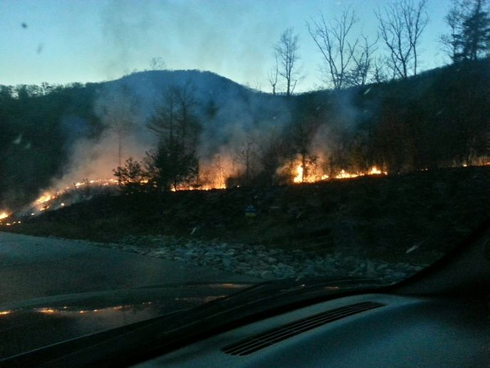 Fire in The Summit on Bluff Mountain Phase II on April 17, 2013
