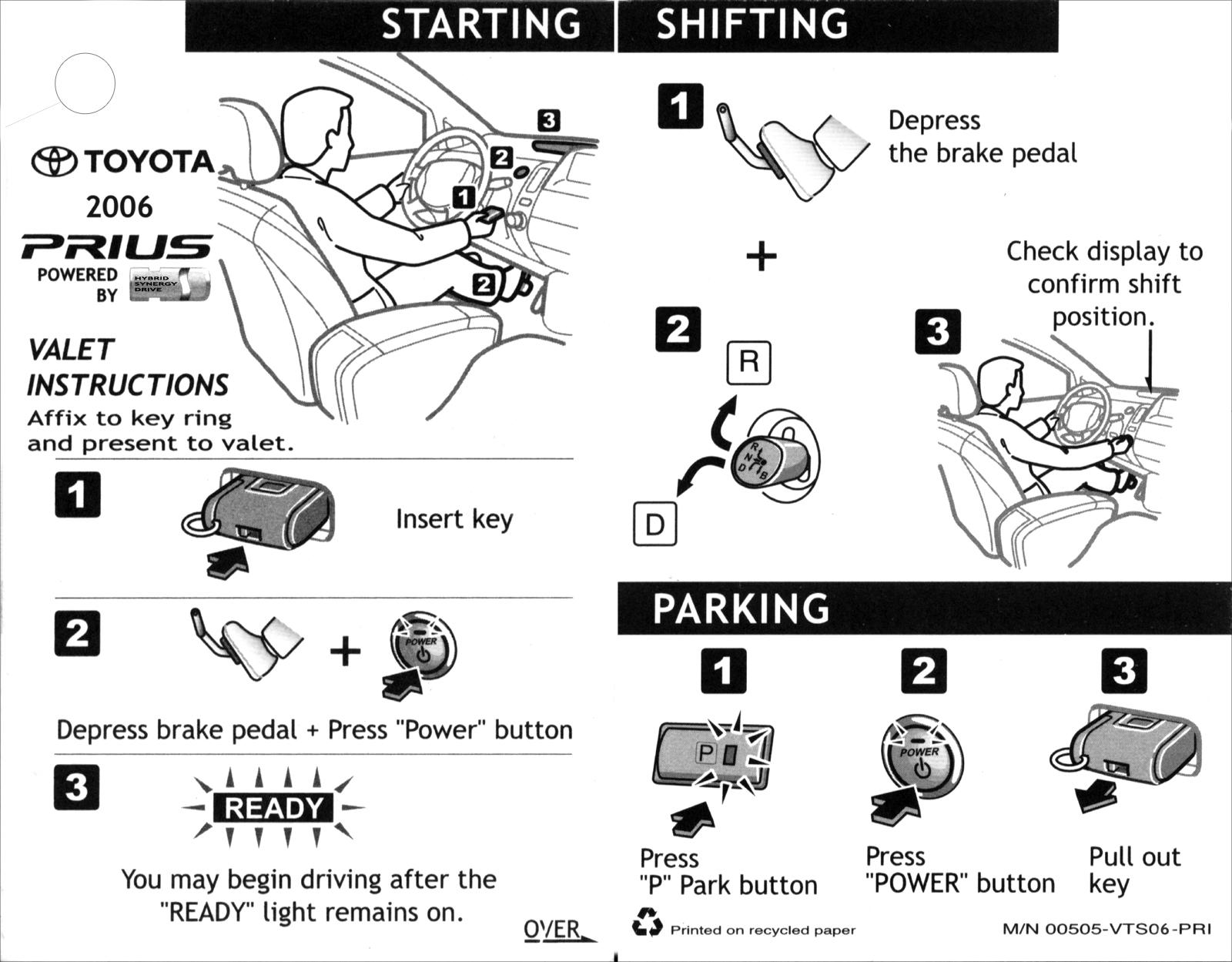 Valet Parking Cards