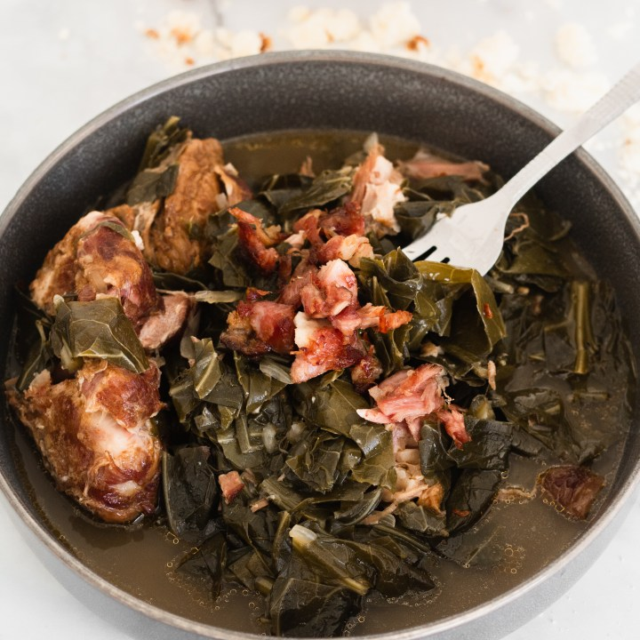 Collard greens with smoked turkey | A Little Food