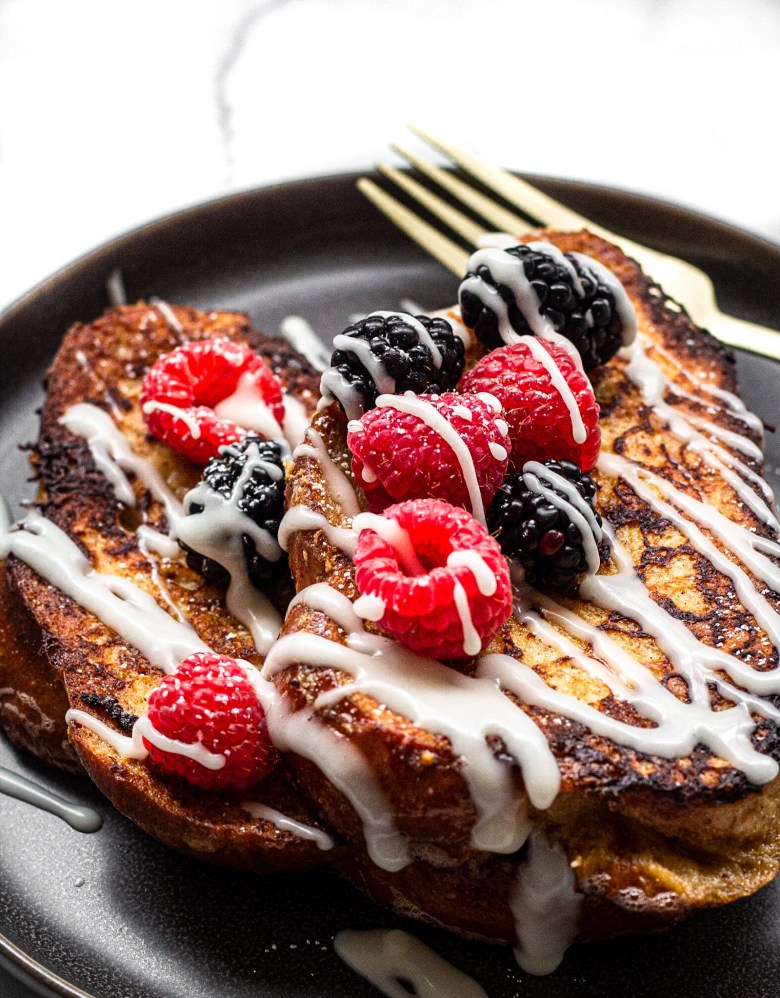 Overnight Rumchata Challah French Toast