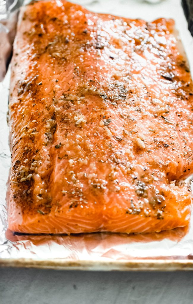 Oven Roasted Salmon with Herb Aioli
