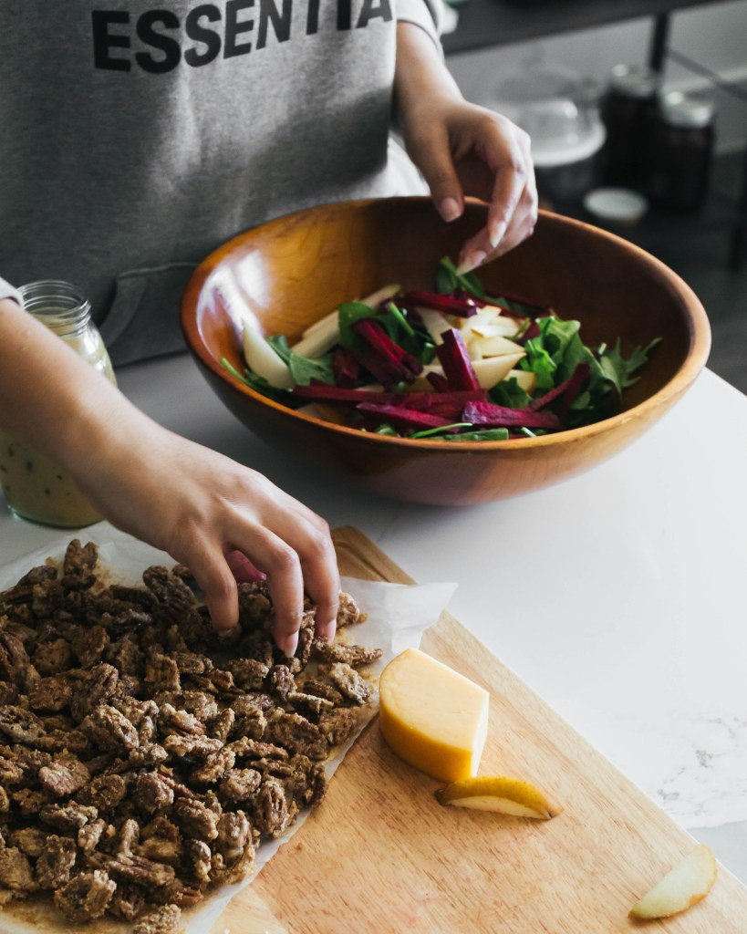 Beet and Pear Winter Salad