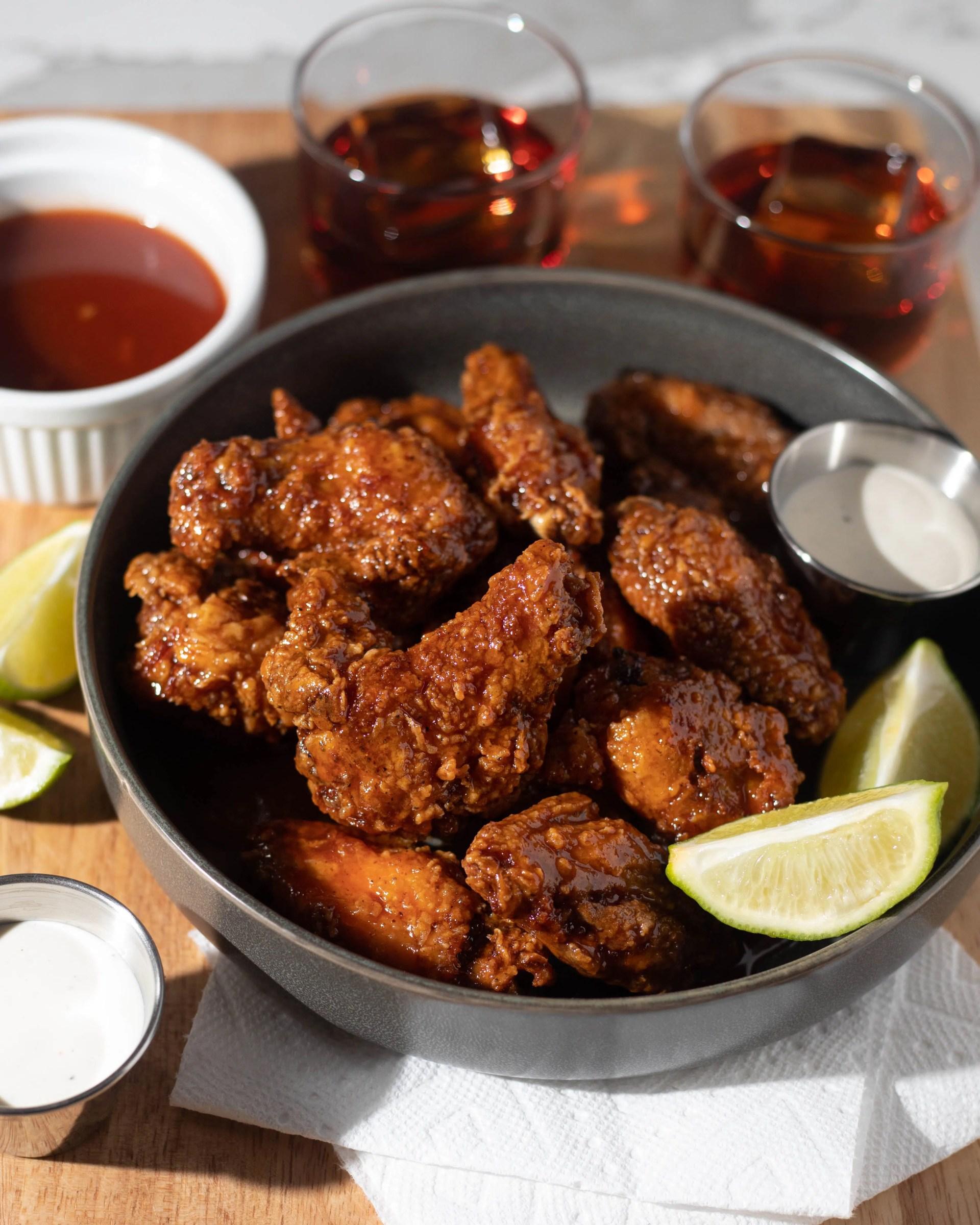 Hot Honey Fried Chicken Wings