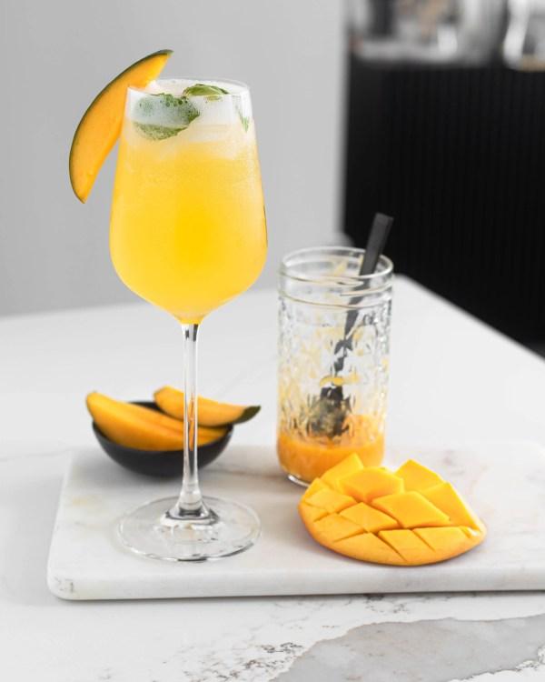 Mango Spritz cocktail