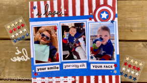 Start With a Sketch for Scrapbook Inspiration | Captain America Layout & Process Video
