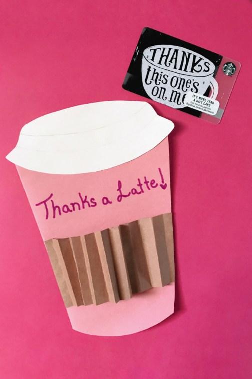 Thanks a Latte card idea