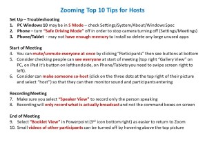 Zooming Top 10 Tips for Hosts