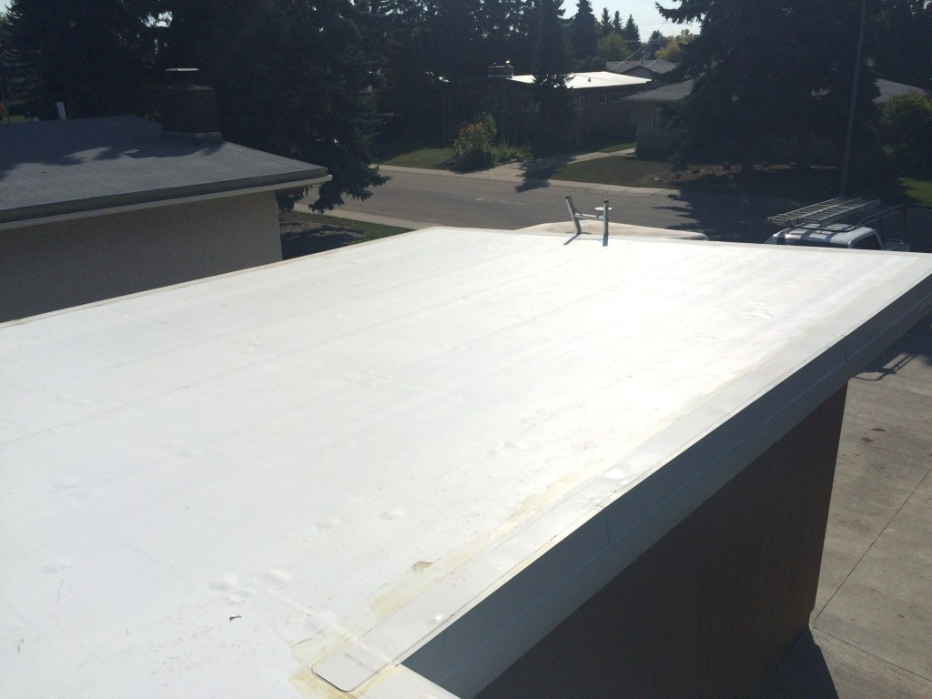 residential TPO roofing system in Edmonton