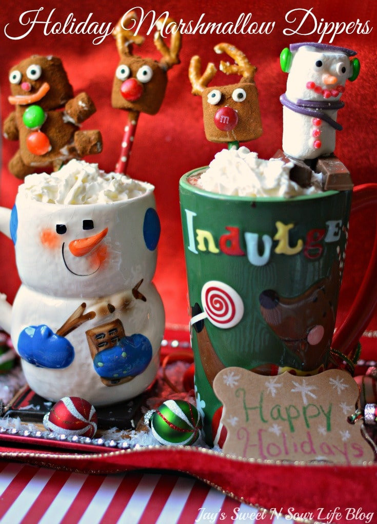 Holiday Marshmallow Dippers