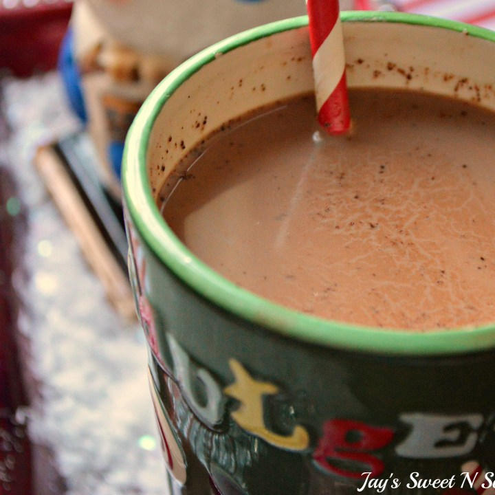 Eggnog Hot Chocolate Cup. This decadent Eggnog Hot Chocolate is the perfect holiday drink for Christmas Parties. Made in the slow cooker, this eggnog infused hot chocolate is smooth, creamy, chocolatey, and easy to make.