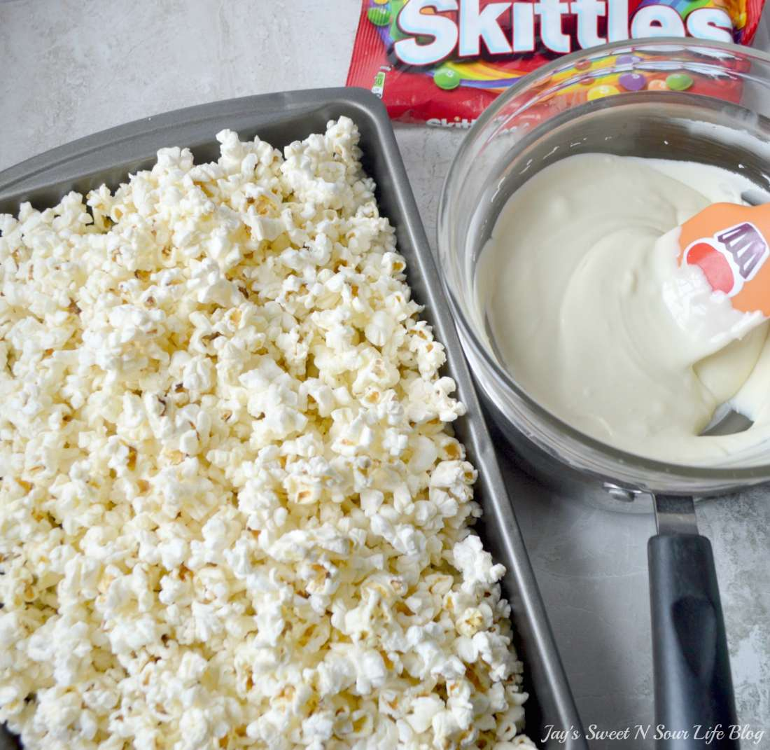 Game Day Skittles Inspired Snacks step 5. Game Day Skittles Inspired Snacks that all of your friends and family can enjoy! Recipes include skittles popcorn, football cupcakes and more!