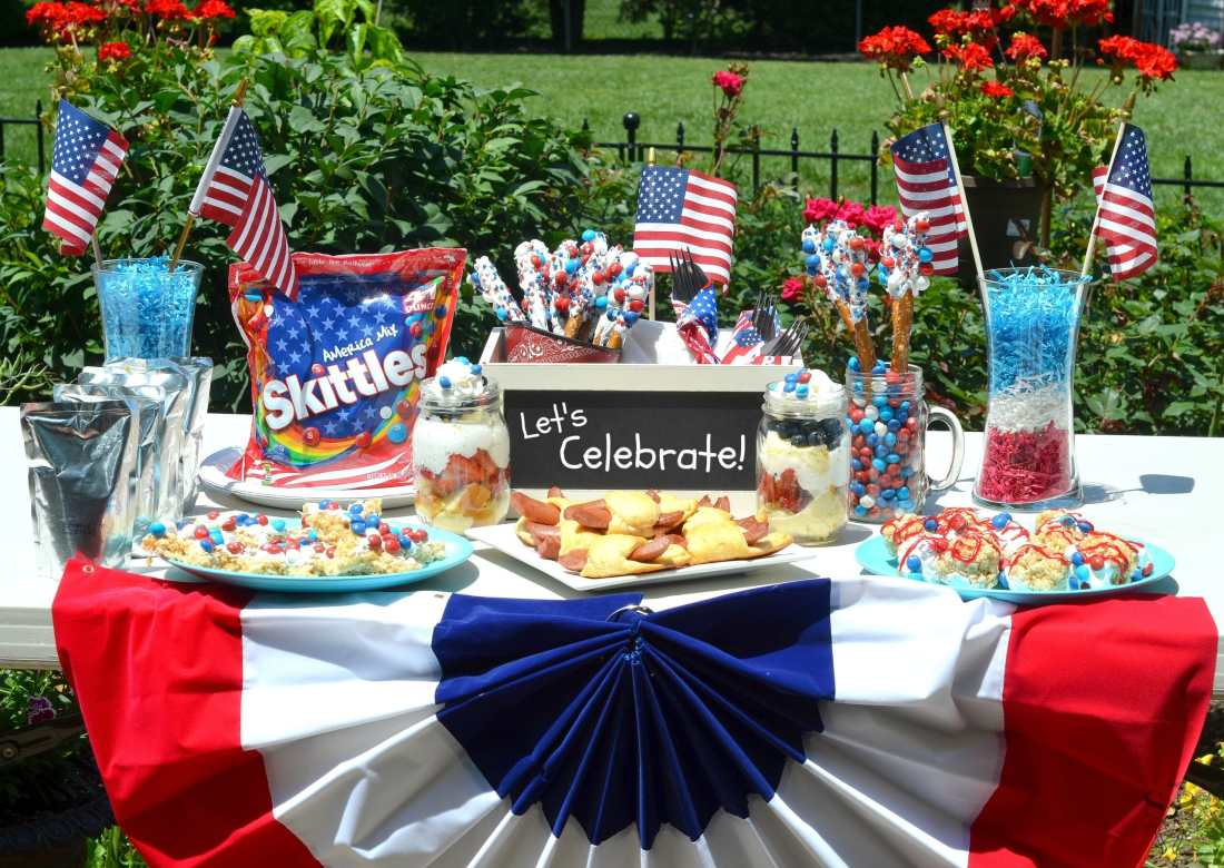 Skittles 4th of July Ideas table