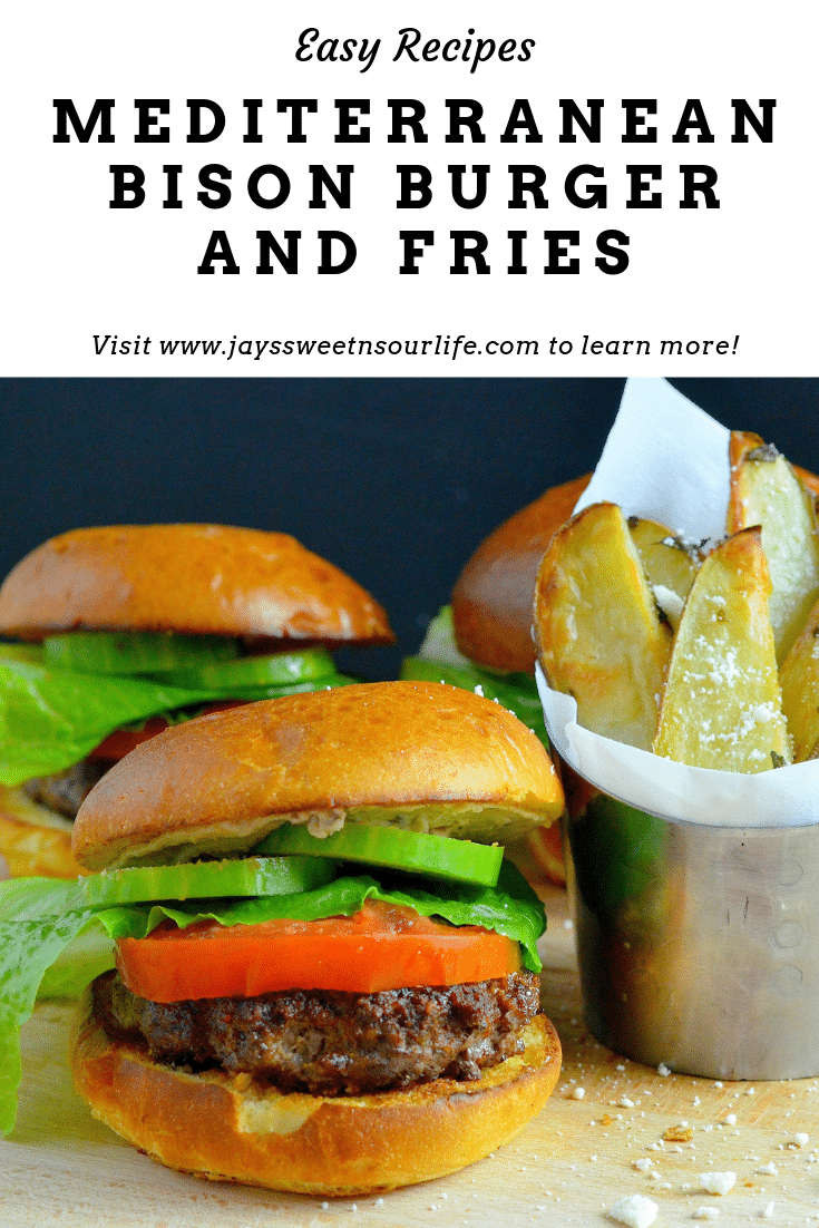 Try my mouth watering Mediterranean Bison Burger and Fries Recipe. Deck the halls and your home with the smell of delicious fresh made Mediterranean Bison Burger and fries using Boar's Hummus as a spread.