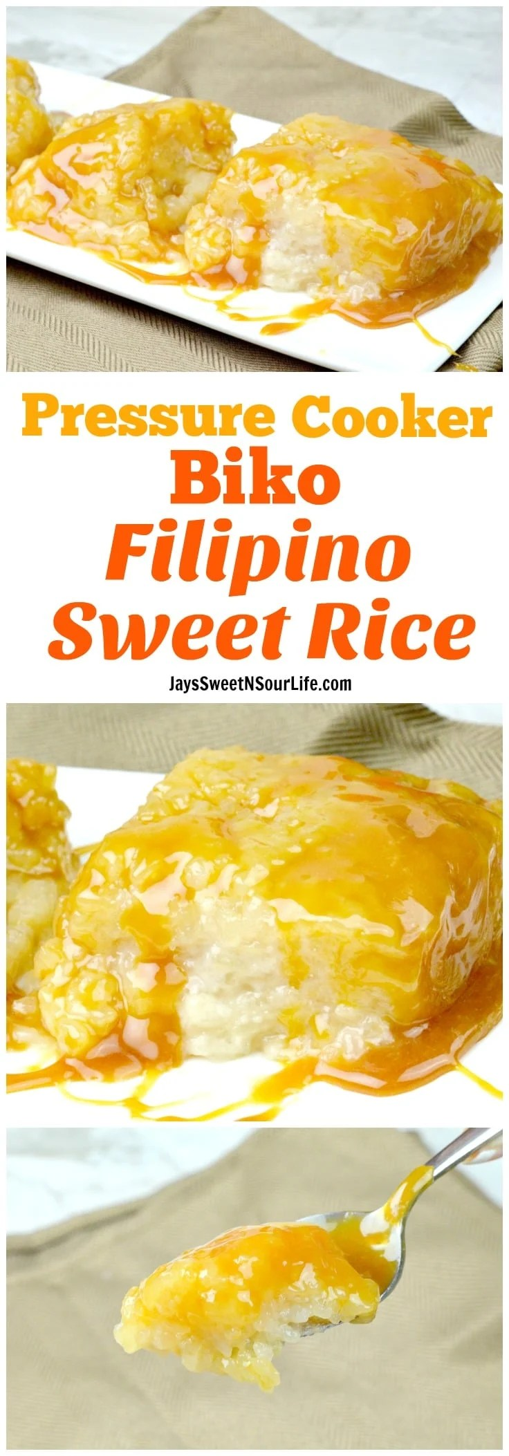 Pressure Cooker Biko Filipino Sweet Rice Cake (No Soak ...
