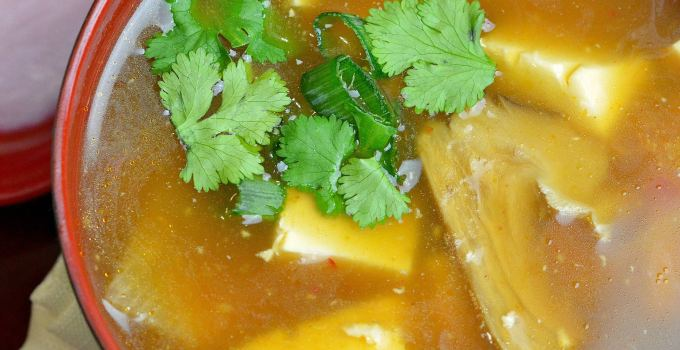 Pressure Cooker Hot And Sour Soup