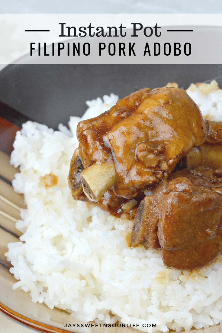 Instant Pot Filipino Pork Adobo. This fall of the bone Pressure Cooker Filipino Pork Adobo is to die for, try my families recipe and taste what we have been cooking for generations.