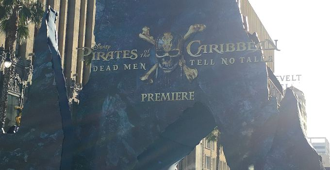 My High Sea's Adventure at The Pirates Of The Caribbean Dead Men Tell No Tales Blue Carpet Movie Premiere