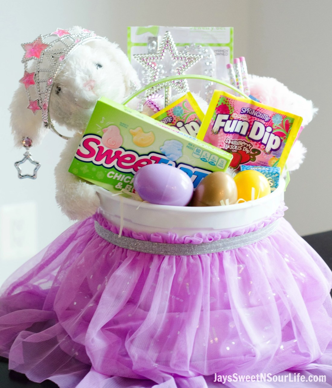 This Princess Easter Basket comes equipped with everything your Princess needs. This basket is packed with princess necessities and candy of course.
