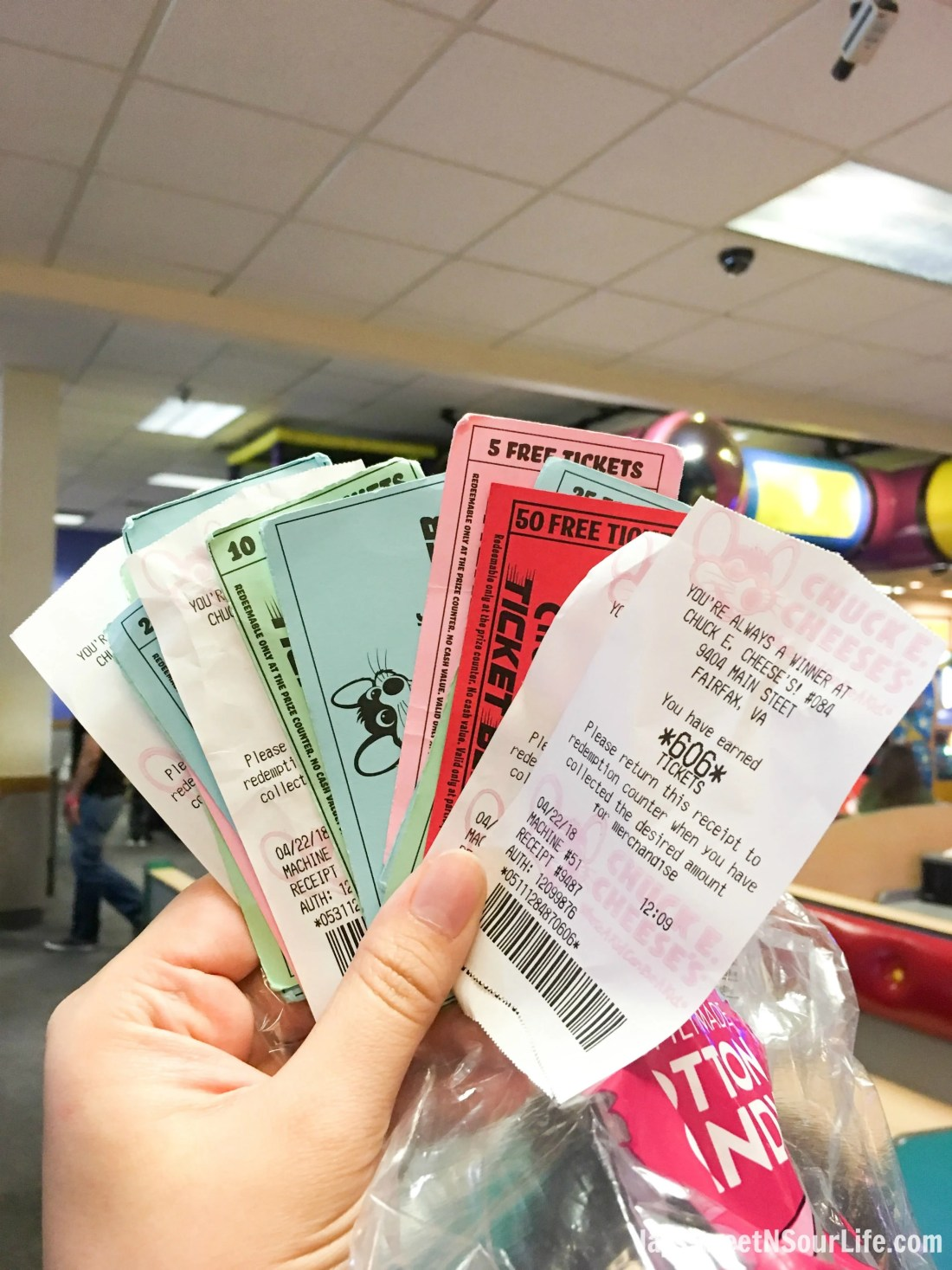 Chuck e cheeses VIP birthday Party ticket receipts to claim for prizes. Book your party today and have guests enjoy 2 hours of unlimited game play.