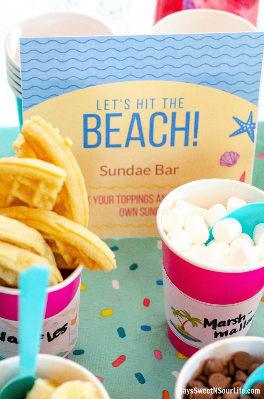 Print your very own Beach Sundae Party Sign. Easy to print and create this fun party.