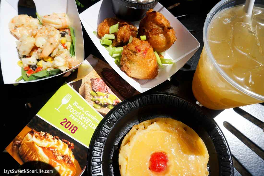 Caribbean Food 2018 Busch Gardens Food and Wine Festival. Food & Wine Festival is from 11 am to close every Friday, Saturday and Sunday, May 25 - July 1.