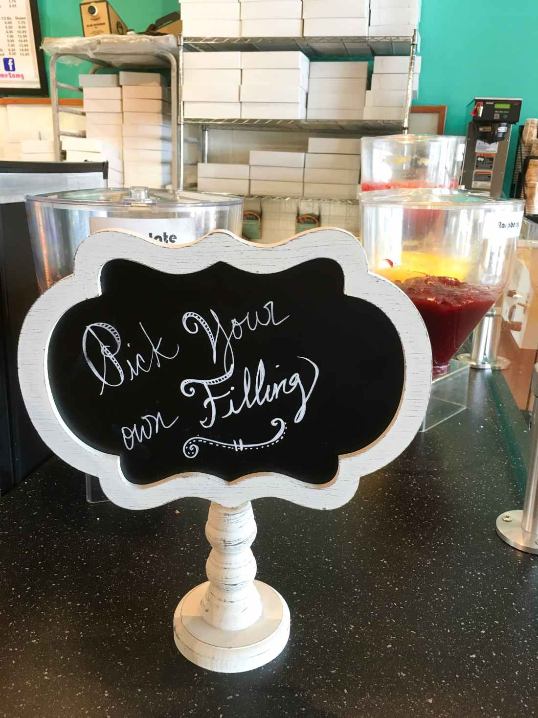 OMG Donuts and Bakery Pick You Filling Sign. OMG Donuts and Bakery Travel Review via - JaysSweetNSourLife.com