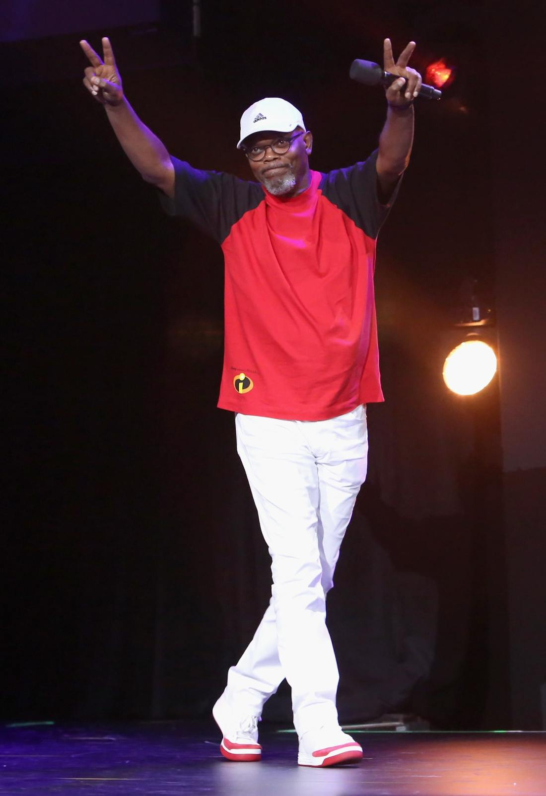 Actor Samuel L. Jackson of INCREDIBLES 2 took part today in the Walt Disney Studios animation presentation at Disney's D23 EXPO 2017 in Anaheim, Calif.