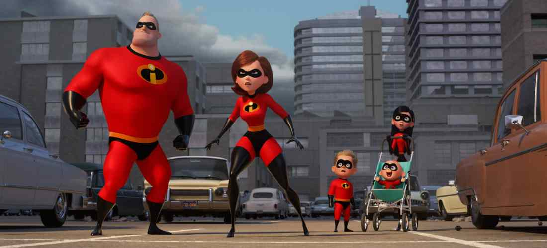 "In Disney Pixar's ""Incredibles 2,"" Helen (voice of Holly Hunter) is in the spotlight, while Bob (voice of Craig T. Nelson) navigates the day-to-day heroics of ""normal"" life at home when a new villain hatches a brilliant and dangerous plot that only the Incredibles can overcome together."