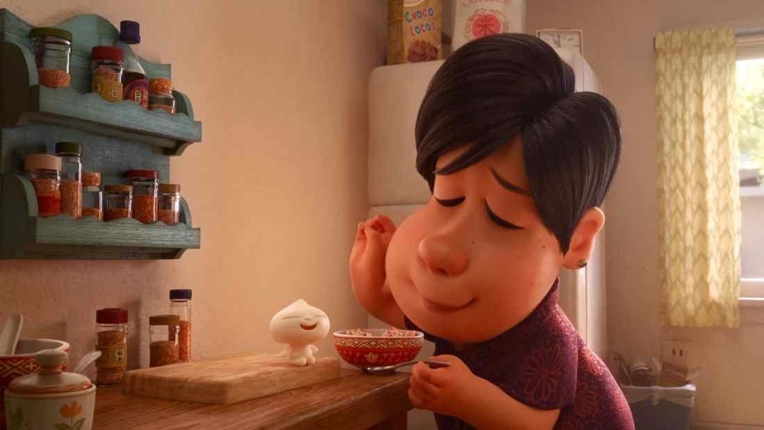 """In Disney•Pixar's new short """"Bao,"""" an aging Chinese mom suffering from empty-nest syndrome gets another chance at motherhood when one of her dumplings springs to life as a lively dumpling boy. Her mothering instincts kick in immediately as she lovingly feeds her giggly new bundle of joy."""