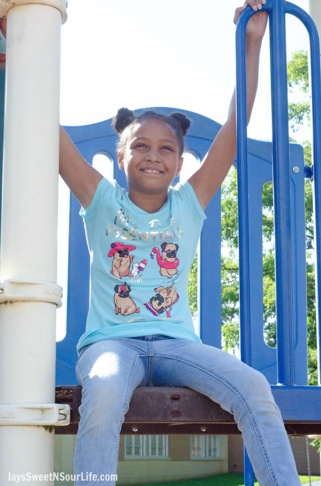 Justice Back To School Shirt Lifestyle Playground. Back To School Must Have Fashion For Tweens via JaysSweetNSourLife.com