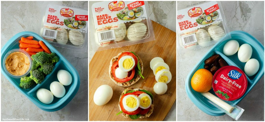 No Cook Meal Prep Ideas Side by Side photos. Learn how to meal prep the easy way with my no cook meal prep ideas.