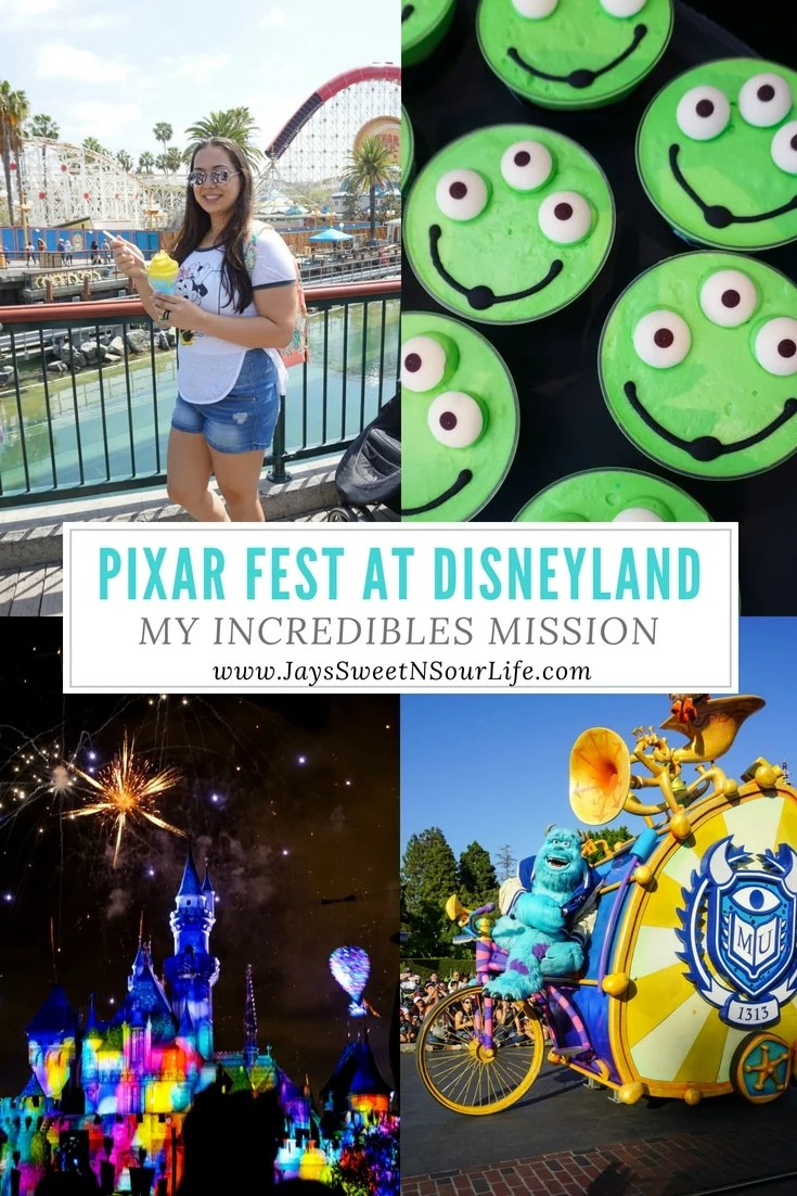 Pixar Fest at Disneyland My Incredibles Mission as told by Jay's Sweet N Sour Life. www.Jayssweetnsourlife.com shares all the details about Pixar Fest, what to expect and what to look forward to during this wonderful event at Disneyland.