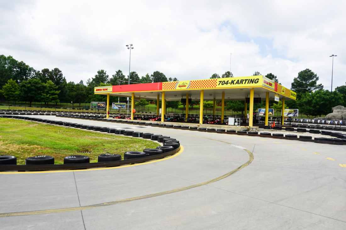 SpeedPark - Visit Cabarrus County Race Track Side View. Read more about our Racing Good Time at The Speedpark in Concord Mills North Carolina.